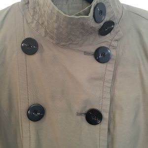 3e557103 [ZARA] Waist tied button down trench coat jacket S